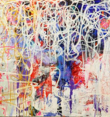 Blue Chaos   Painting by Scott Vaughn Owen