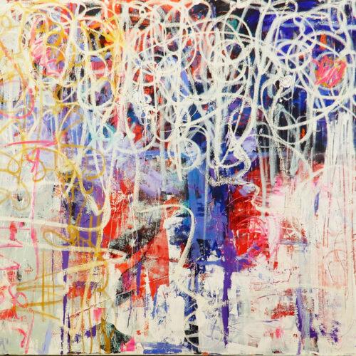 Blue Chaos | Painting by Scott Vaughn Owen