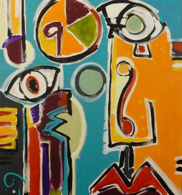 Eye on the Pie   Painting by Scott Vaughn Owen
