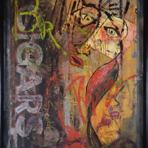Whiskey, Women, and Smoke | Painting By Scott Vaughn Owen